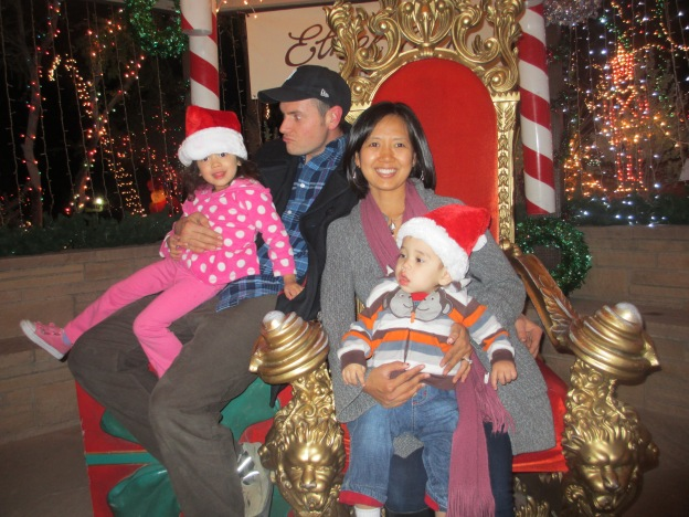 Rupp family in Santa's seat.  2012
