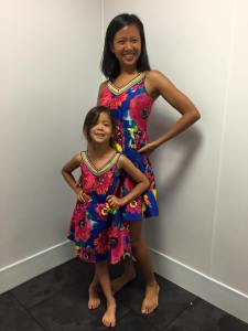 me and my mini me in matching dresses