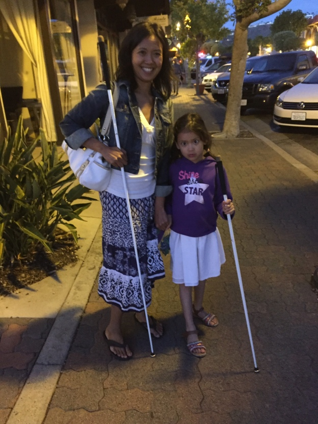 just a blind girl, Marley and me holding our canes